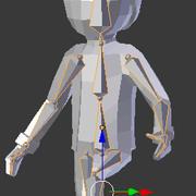 歩く人 3d model