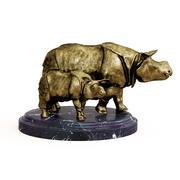 Brązowy nosorożec 3d model