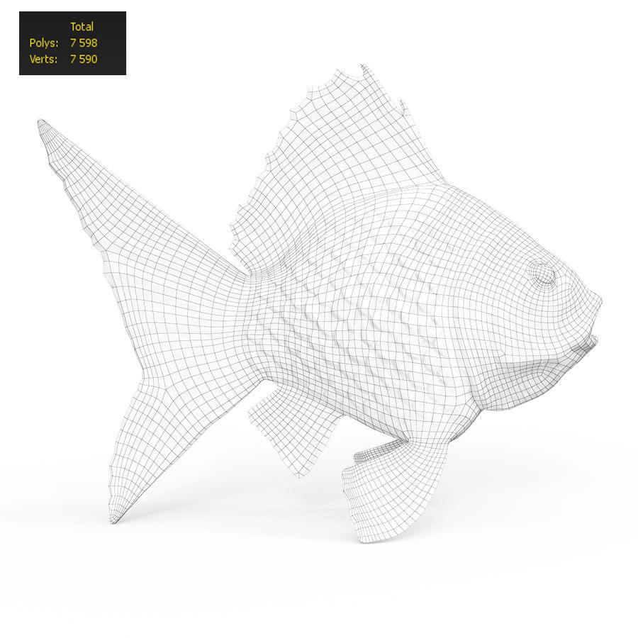 金の魚 royalty-free 3d model - Preview no. 5