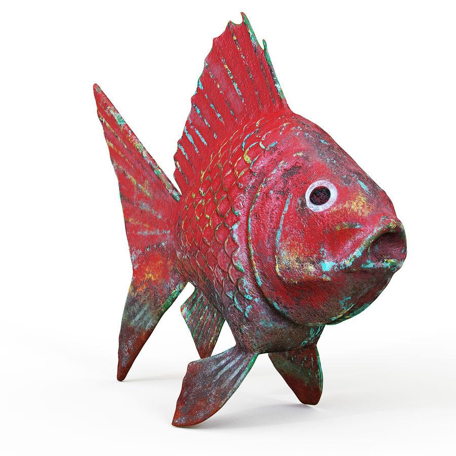 金の魚 royalty-free 3d model - Preview no. 2