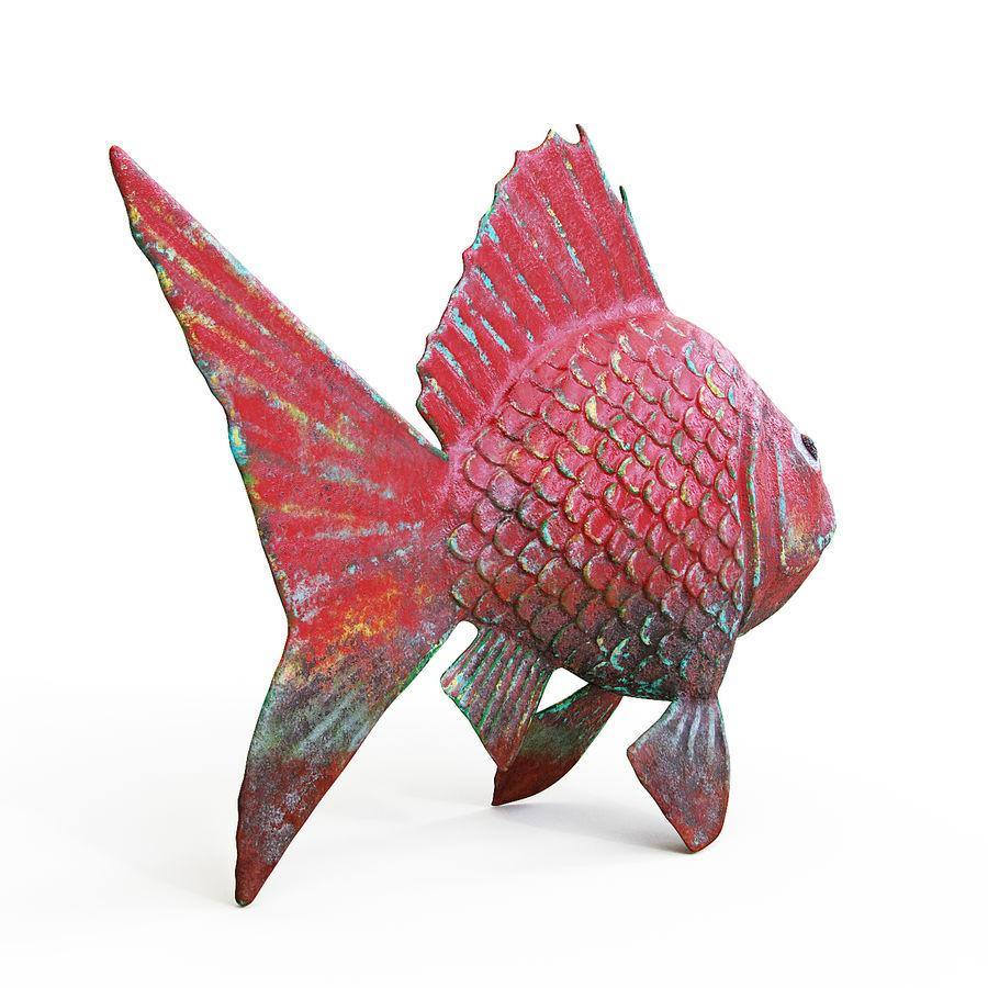金の魚 royalty-free 3d model - Preview no. 3