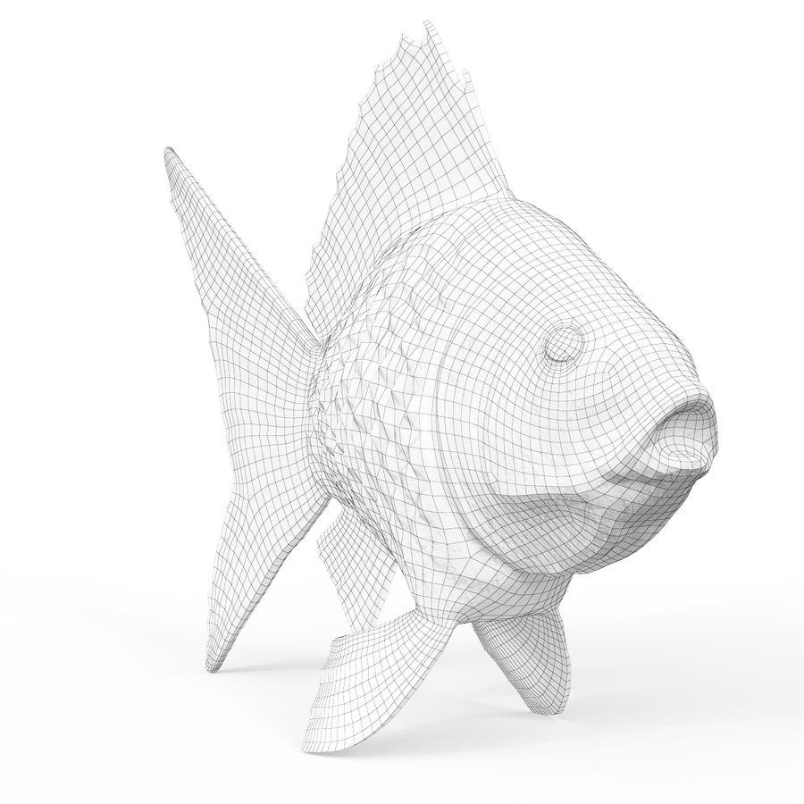 金の魚 royalty-free 3d model - Preview no. 6