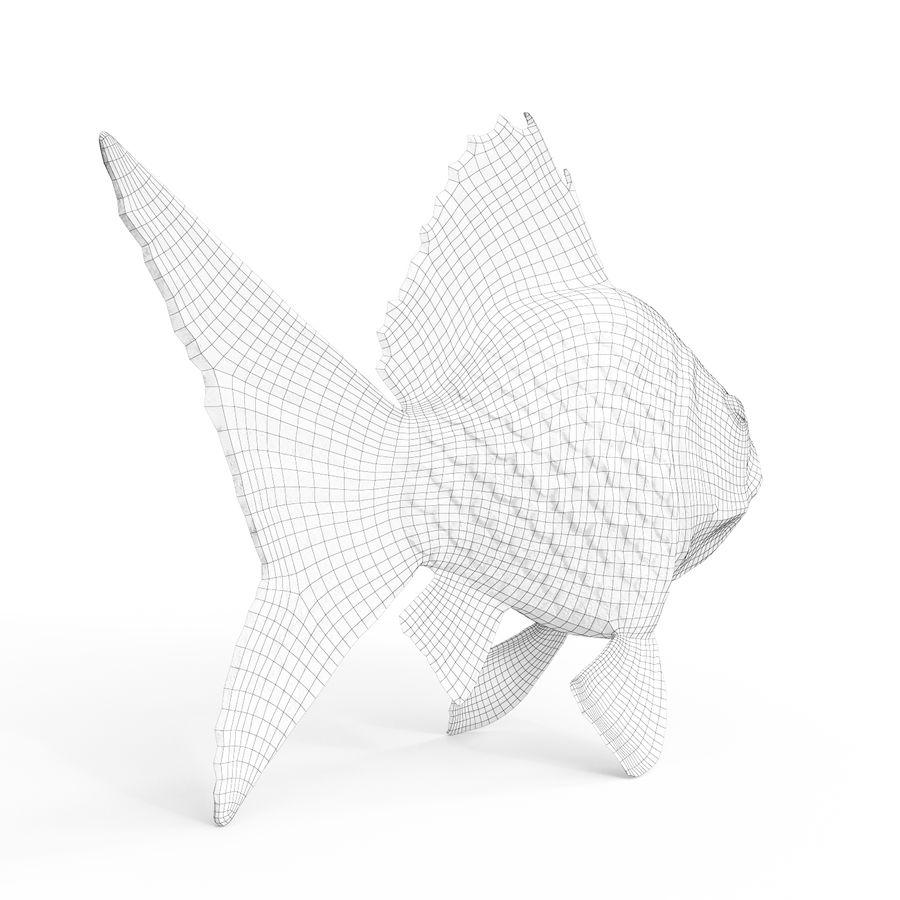 金の魚 royalty-free 3d model - Preview no. 7