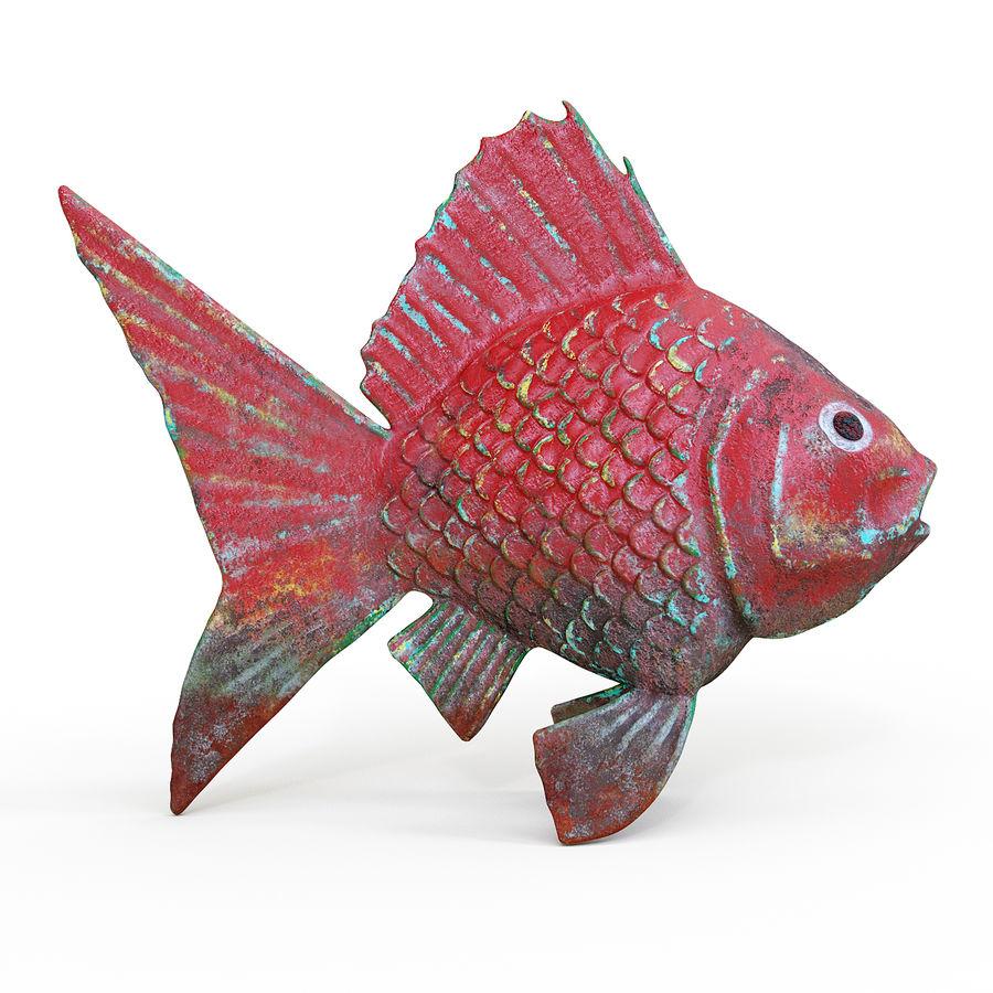 金の魚 royalty-free 3d model - Preview no. 1