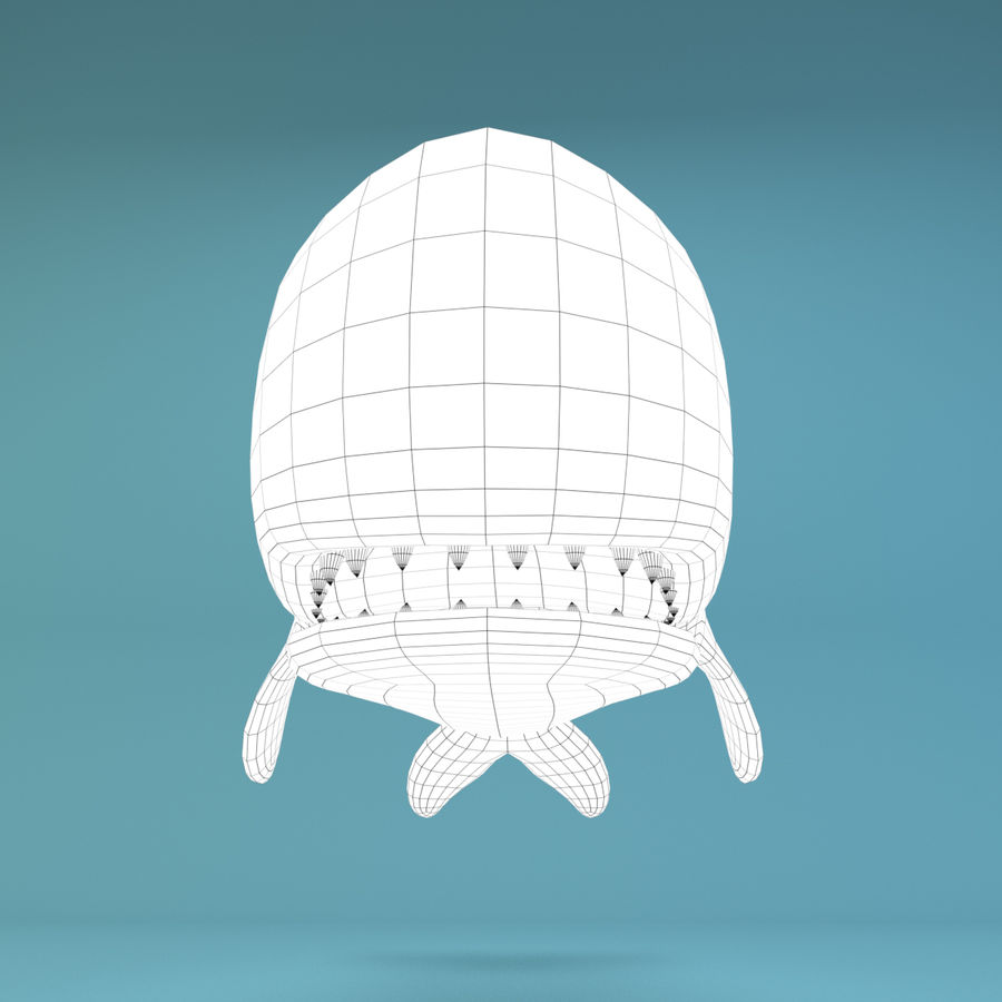 Cartoon Whale royalty-free 3d model - Preview no. 10