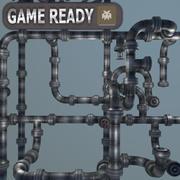 Modułowy system rur (Gameready) 3d model