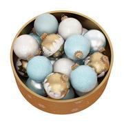 Christmas balls in the box 3d model