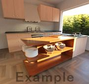 Realistyczna kuchnia 3d model