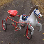 Vintage Soviet Horse Tricycle Pedal Car 3d model