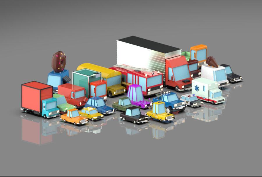 Veículos de baixo poli / Pack royalty-free 3d model - Preview no. 5