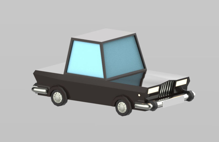 Veículos de baixo poli / Pack royalty-free 3d model - Preview no. 16