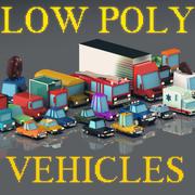 Veículos de baixo poli / Pack 3d model