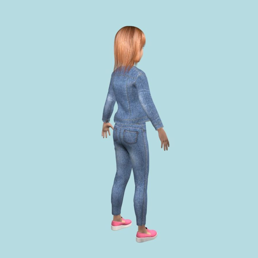 Adolescente en ropa de jeans royalty-free modelo 3d - Preview no. 5