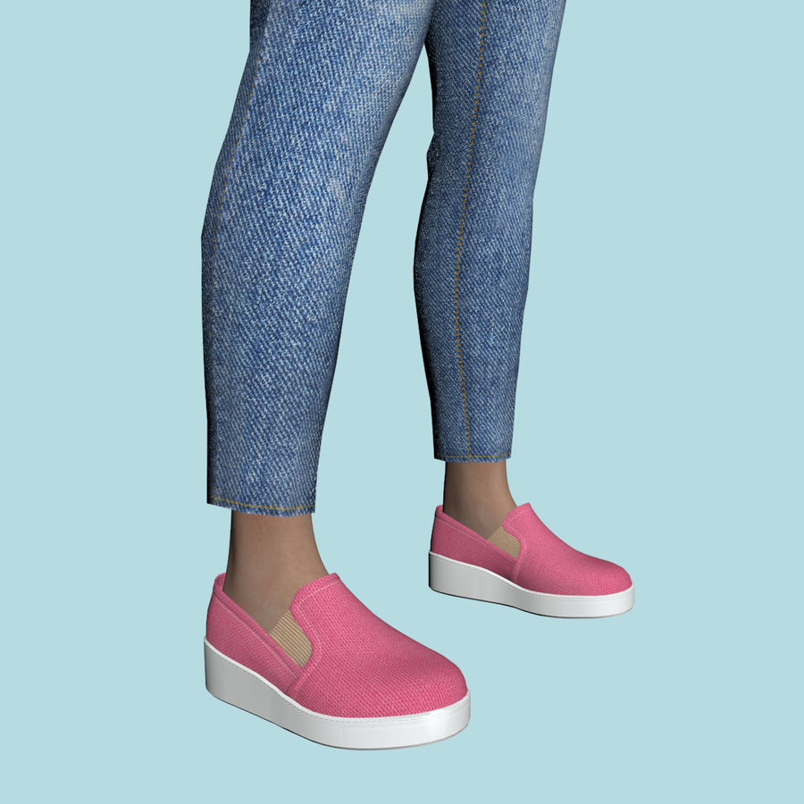Adolescente en ropa de jeans royalty-free modelo 3d - Preview no. 10
