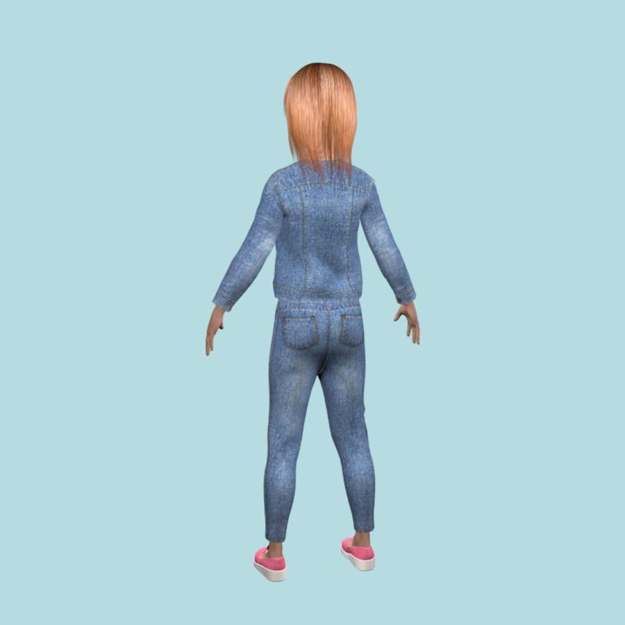 Adolescente en ropa de jeans royalty-free modelo 3d - Preview no. 4