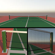 Tennisplatz - Netz 3d model
