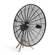 Antenne parabolique noire modèle 3D 3d model