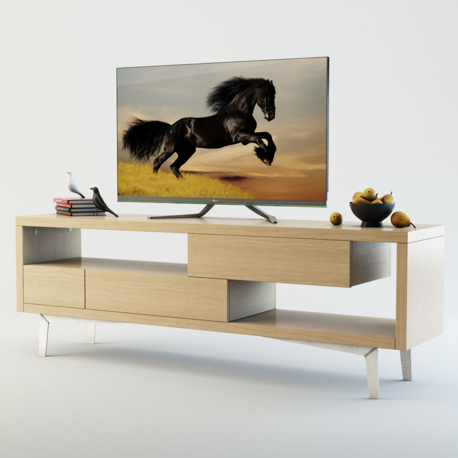 TV Furniture Tango royalty-free 3d model - Preview no. 2