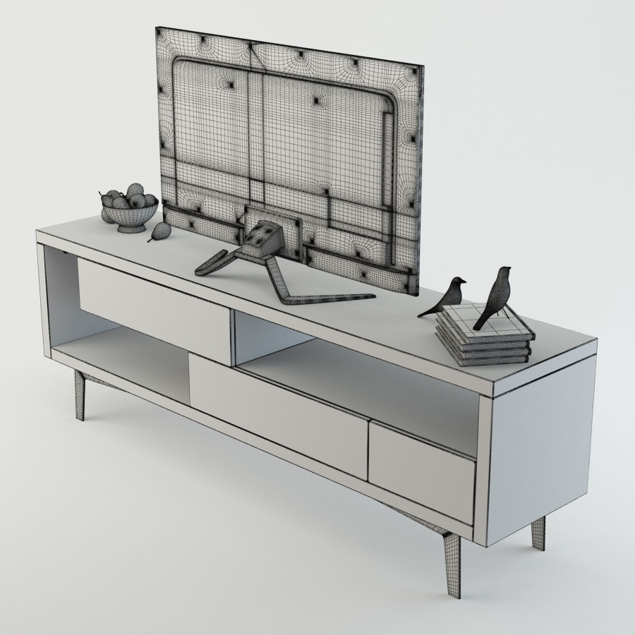 TV Furniture Tango royalty-free 3d model - Preview no. 8