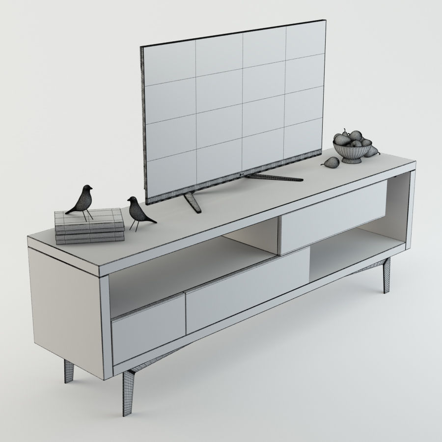 TV Furniture Tango royalty-free 3d model - Preview no. 7