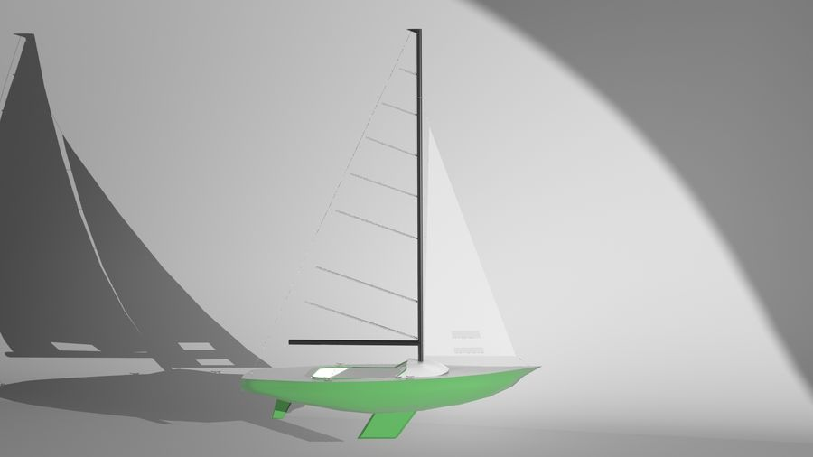 Segelboot royalty-free 3d model - Preview no. 3