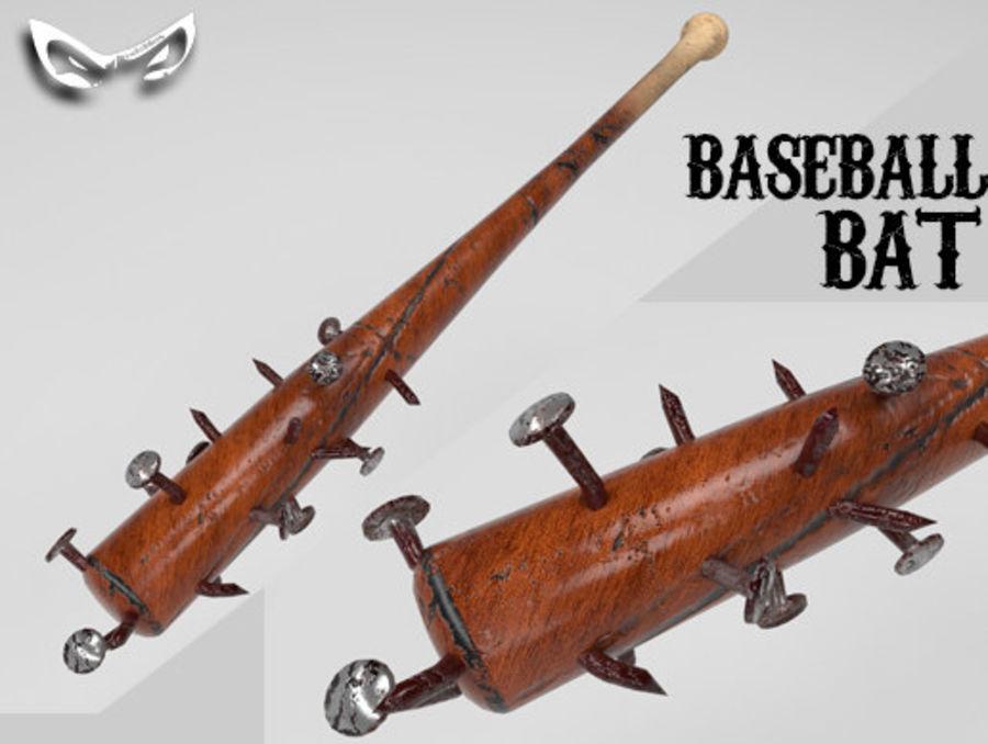 Baseball Bat royalty-free 3d model - Preview no. 5