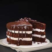 Choklad icing cake 3d model