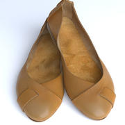 Nude Leather Flats 3d model