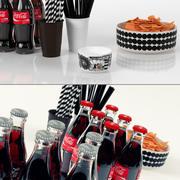 파티 간식 및 음료 세트 3d model