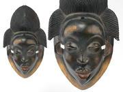 African Gabon Punu - Lumbo Tribal Mask 3d model