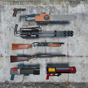 Classic Shooter Weapons Pack 3d model