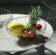 Fruitschaal met draad 3d model
