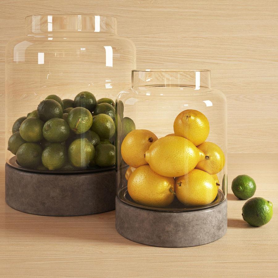 Limoenen en citroenen royalty-free 3d model - Preview no. 3
