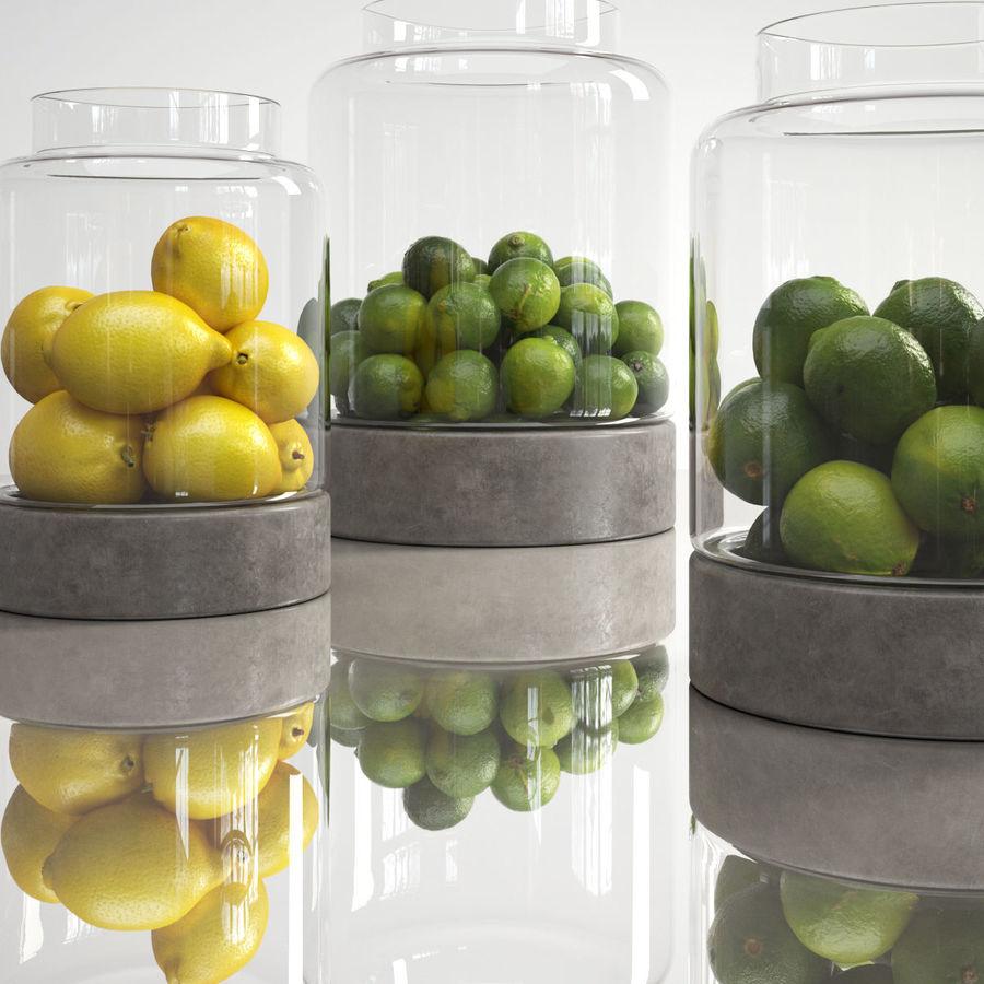 Limoenen en citroenen royalty-free 3d model - Preview no. 1