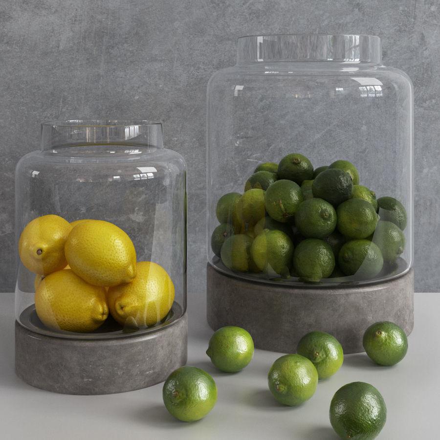 Limoenen en citroenen royalty-free 3d model - Preview no. 2