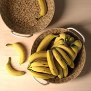 IKEAカスタンジェントボウル、バナナ添え 3d model