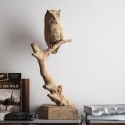 Sculpture de hibou de la sagesse des bois 3d model