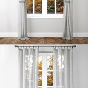 Belgian Linen Curtains 2 3d model