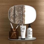 浴室化妆镜套装 3d model