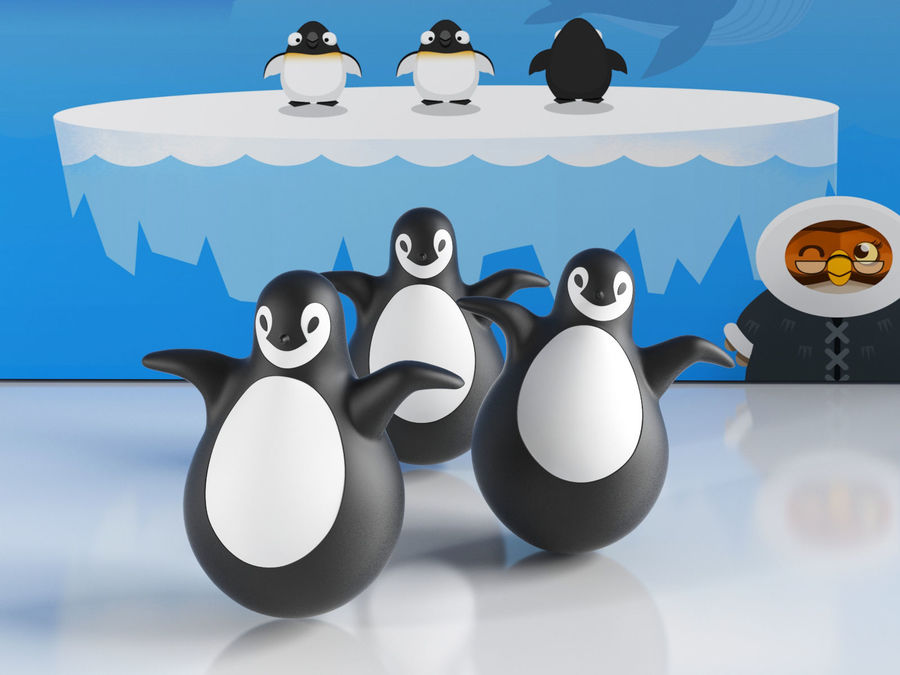MAGIS Pingy The Penguin royalty-free 3d model - Preview no. 4