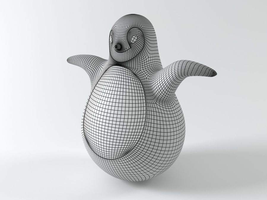 MAGIS Pingy The Penguin royalty-free 3d model - Preview no. 6