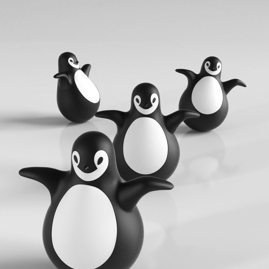 MAGIS Pingy The Penguin royalty-free 3d model - Preview no. 3