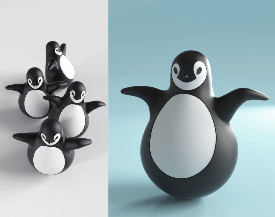MAGIS Pingy The Penguin royalty-free 3d model - Preview no. 1