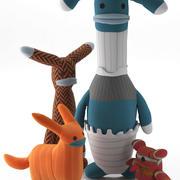바보 생물 양말 괴물 3d model