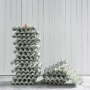 Set di vassoi per uova 3d model
