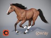 O cavalo em três posições (1) 3d model