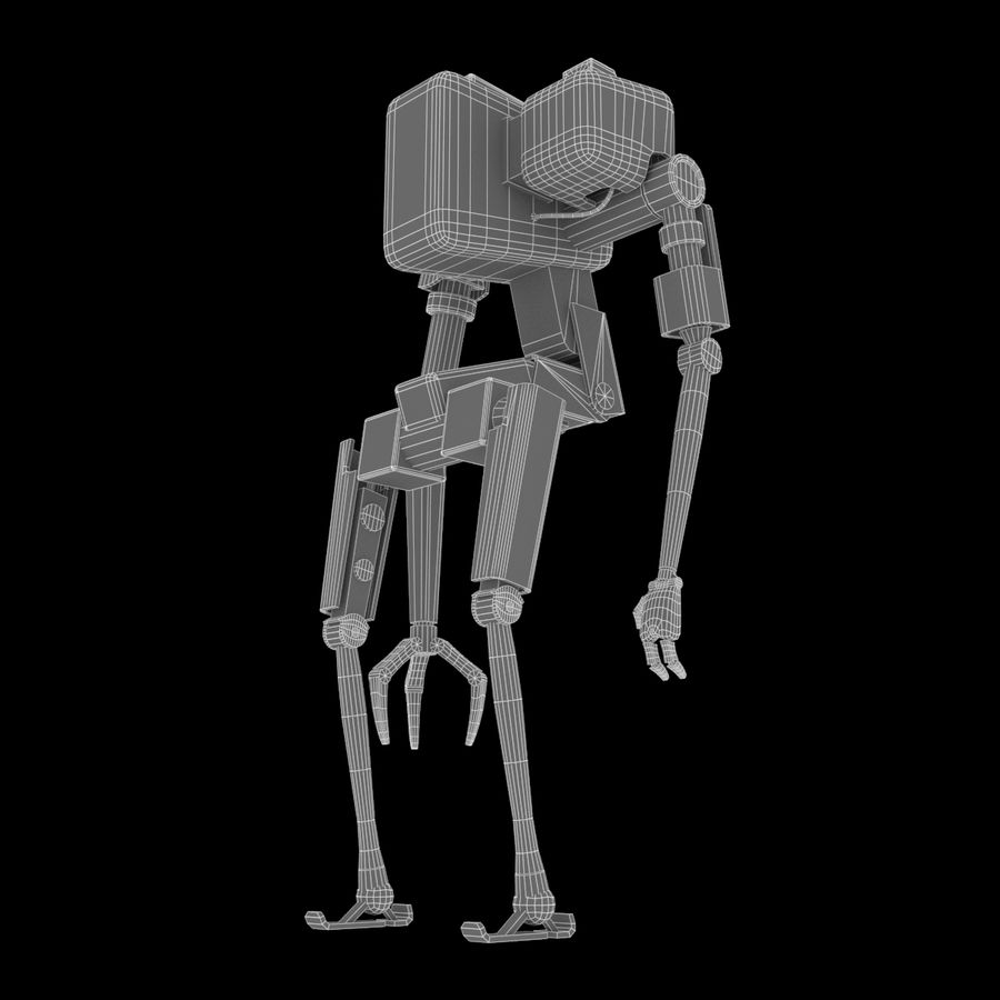 Character Robot royalty-free 3d model - Preview no. 7