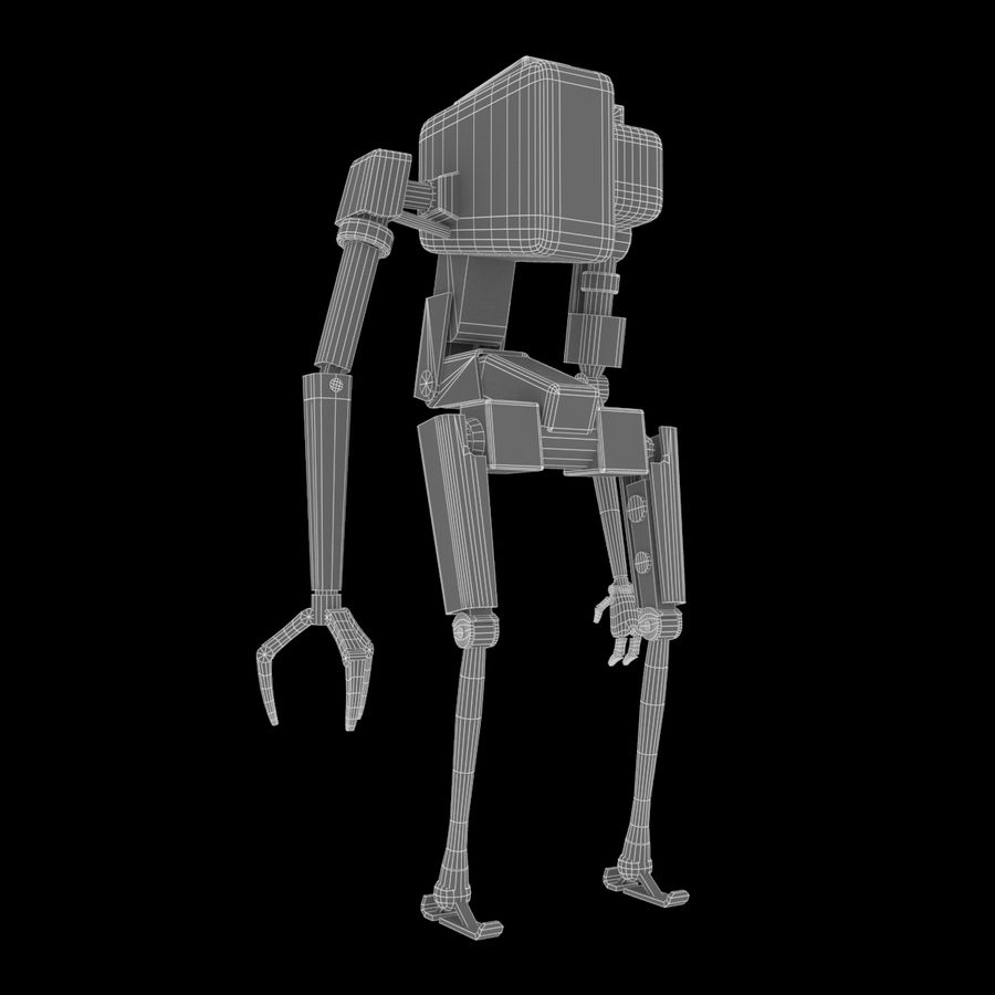 Character Robot royalty-free 3d model - Preview no. 6