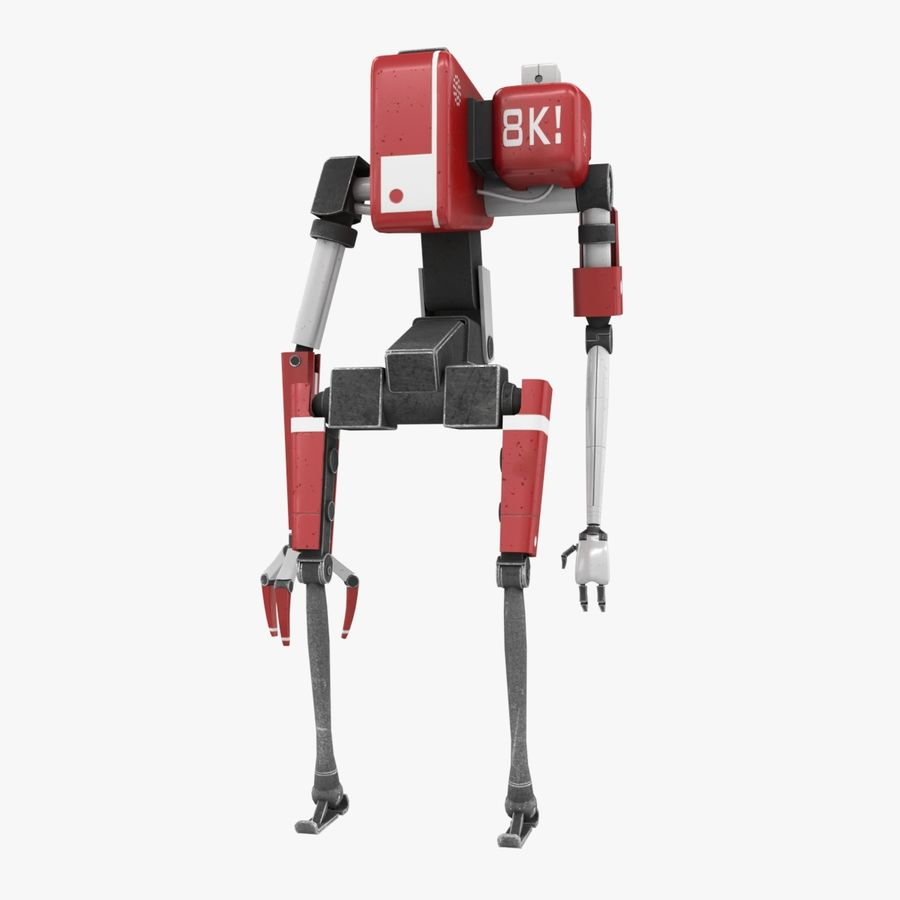 Character Robot royalty-free 3d model - Preview no. 1