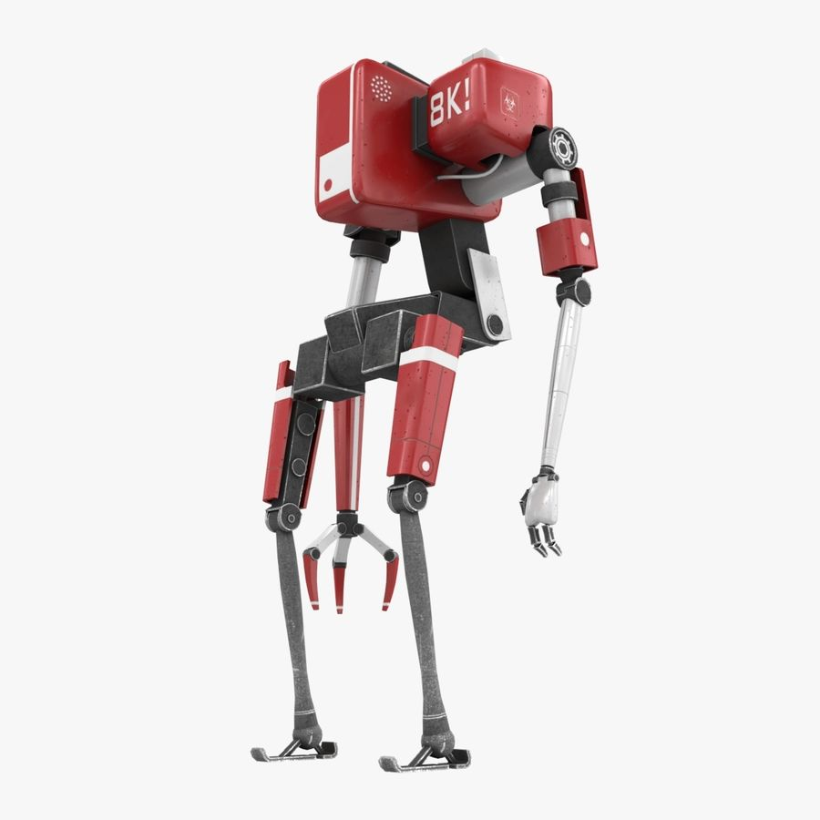Character Robot royalty-free 3d model - Preview no. 4